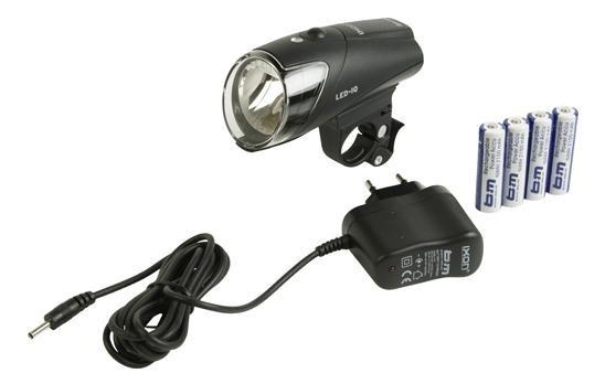 Busch + M�ller koplamp Ixon IQ led oplaadbaar zwart
