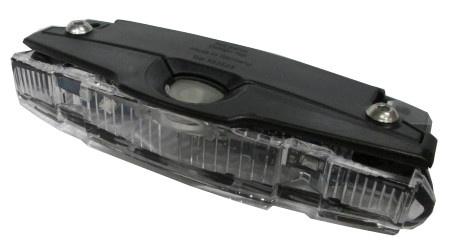 Busch + Müller Achterlicht 53232B Goldline batterij zwart