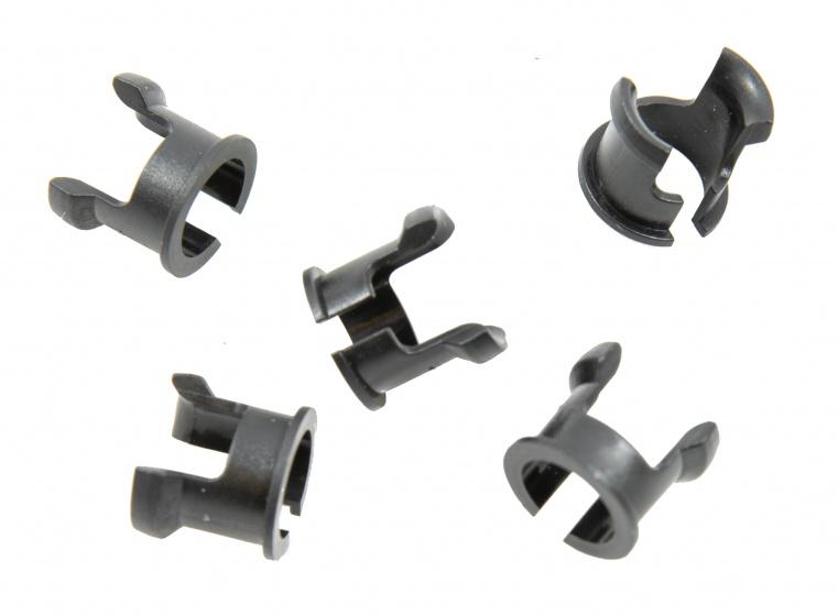 Campagnolo inzetstukken ventielgat zwart 5 stuks