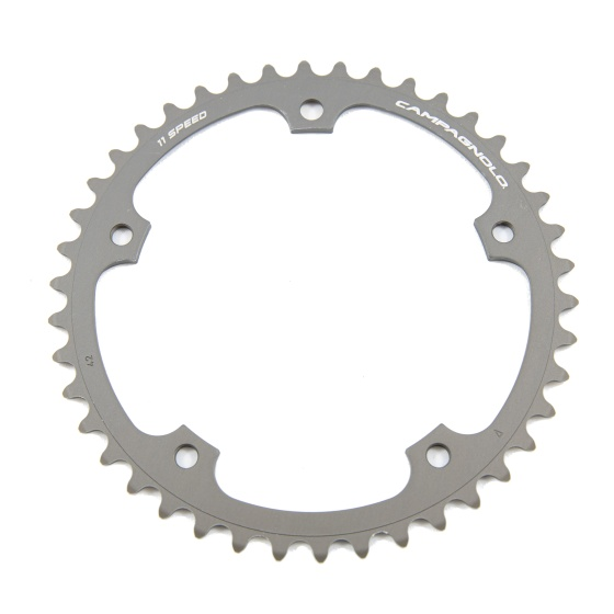 Campagnolo kettingblad (Super) Record 42T 11S 135 mm zilver