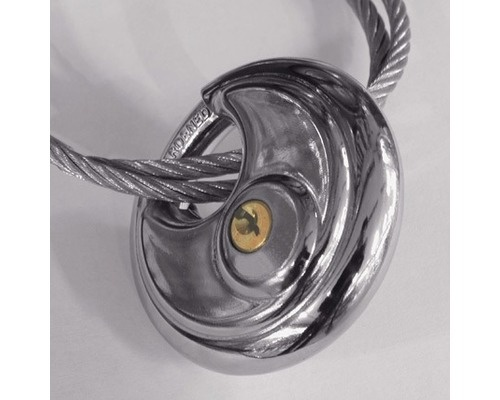 Carpoint hangslot discus 70 x 9 mm zilver