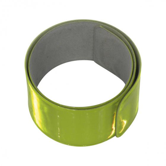 Carpoint reflectie armband Snap Wrap 34 cm geel