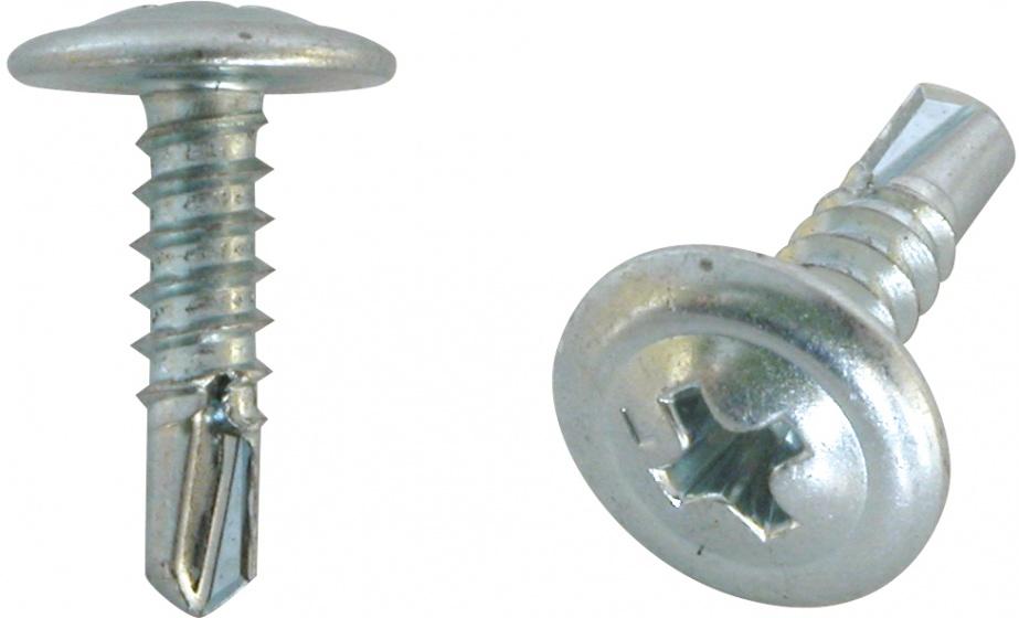 Carpoint zelftappende schroeven 4 x 25 mm staal zilver 100 stuks