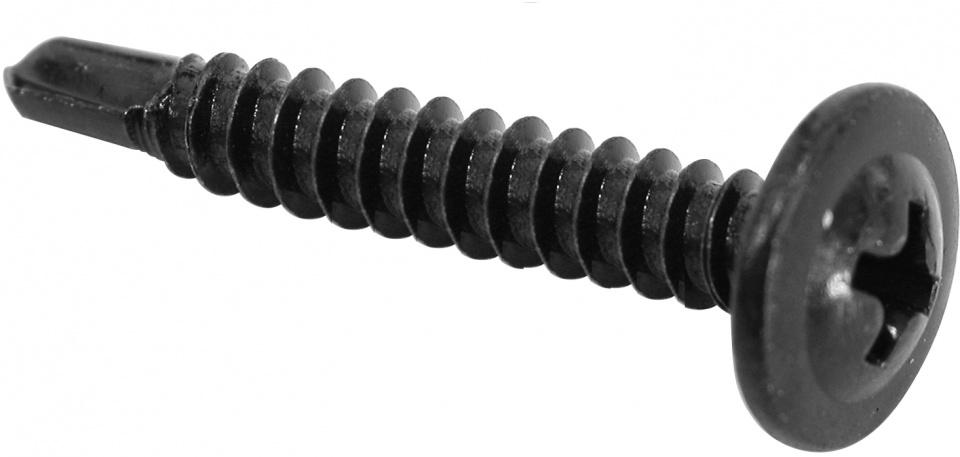 Carpoint zelftappende schroeven 4 x 38 mm staal zwart 50 stuks