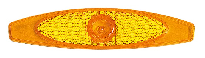 Cateye spaakreflector RR 317 133,5 mm oranje 4 stuks