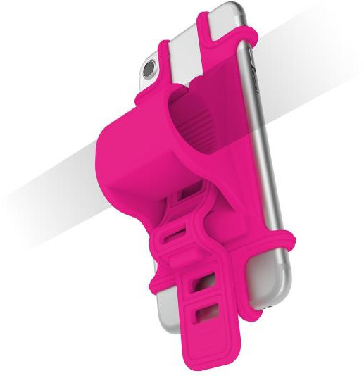 Celly telefoonhouder Easybike fiets 5x1,9x10 siliconen roze