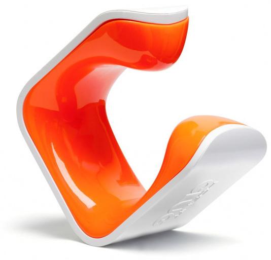 Clug ophangbeugel Hybrid 6 x 6 x 4 cm wit/oranje