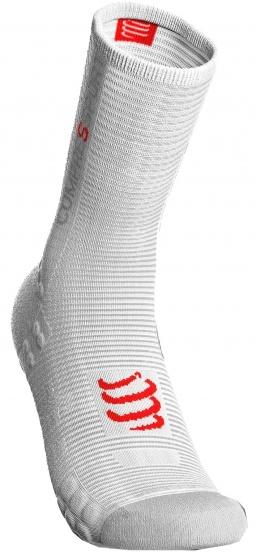 Compressport Pro Racing V3.0 fietssokken wit/rood maat 45 47