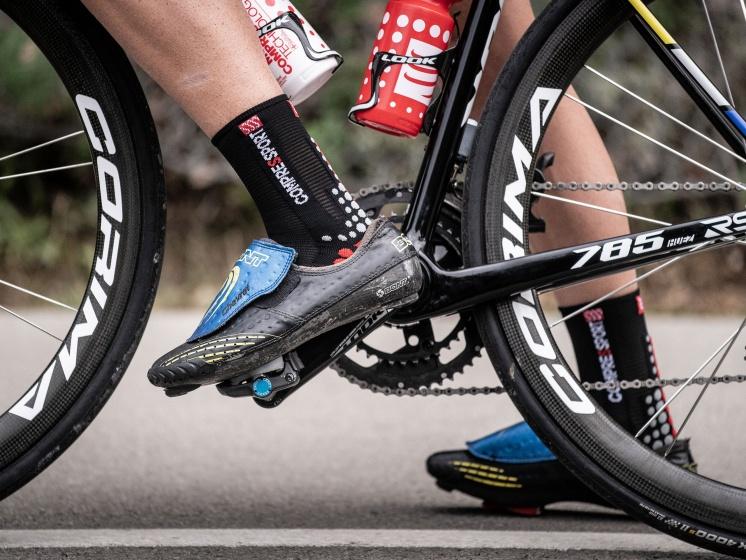 Compressport Pro Racing V3.0 fietssokken zwart/rood maat 39 41