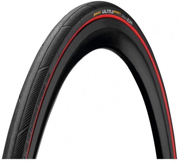 Continental buitenband Ultra Sport III 28 x 7/8 (23 622) zwart/rood