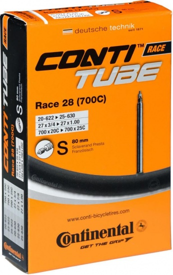 Continental Binnenband Race 27 x 3/4 1.00 (20 622/25 630) FV 80 mm