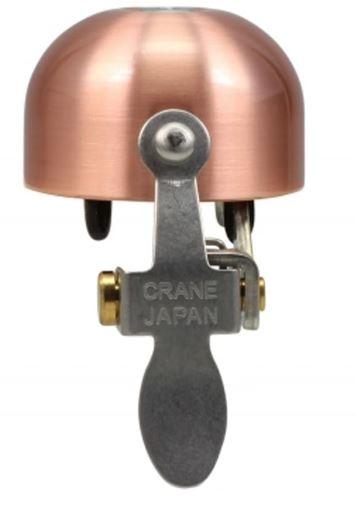Crane fietsbel E NE 5 x 3,7 cm staal matkoper