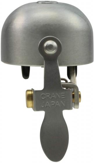Crane fietsbel E NE 5 x 3,7 cm staal matzilver