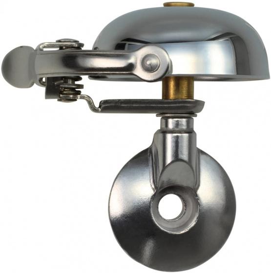 Crane fietsbel Mini Suzu 5 x 4,5 cm staal chroom