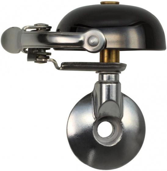 Crane fietsbel Mini Suzu 5 x 4,5 cm staal zwart