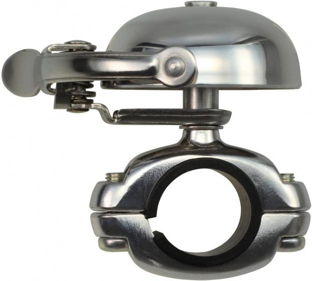 Crane fietsbel Suzu 5 x 4,5 cm staal zilver