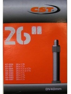 CST Binnenband 26 x 1 1/2 x 1 3/8/1.75 (47 559/32 597) FV 40 mm