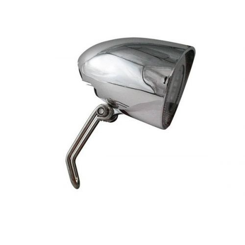 Cycle Parts koplamp dynamo led zilver