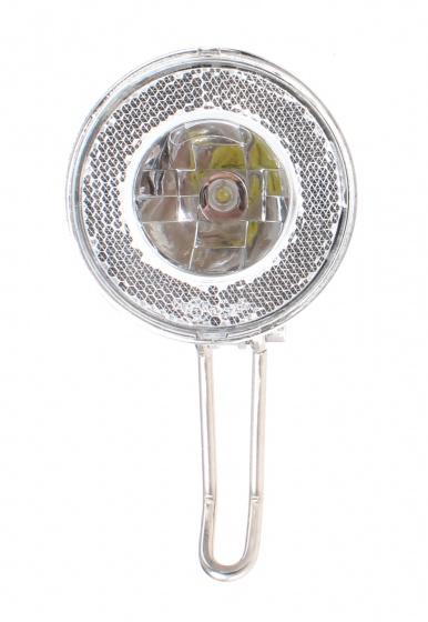 Cycle Parts koplamp dynamo led zilver