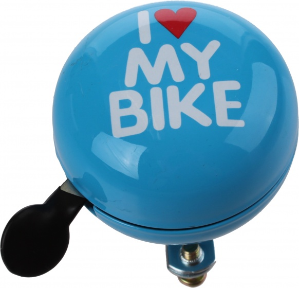 Cycle Tech fietsbel I Love my Bike blauw 60 mm