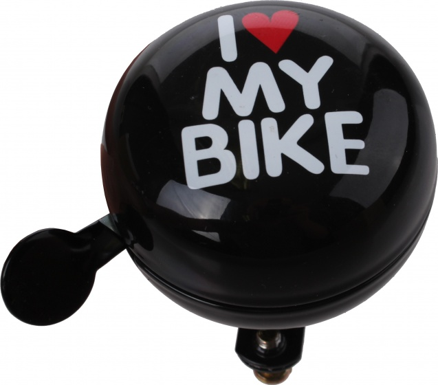 Cycle Tech fietsbel I Love my Bike zwart 80 mm