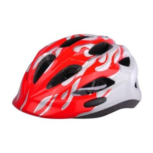 Cycle Tech fietshelm flames junior 46 52 cm rood