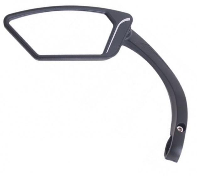 Cycle Tech fietsspiegel e bike links 12 x 16 cm zwart