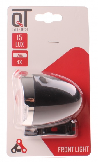 Cycle Tech koplamp Retro 15 lux batterij led zwart