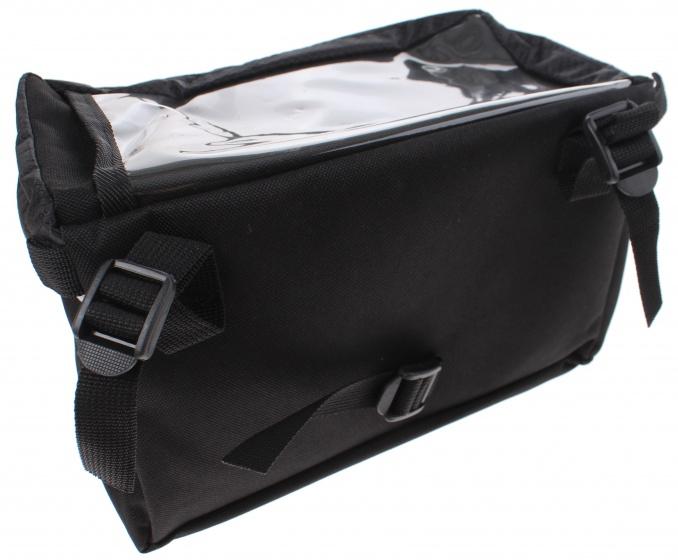 Cycle Tech stuurtas met riempjes 6,5 liter zwart