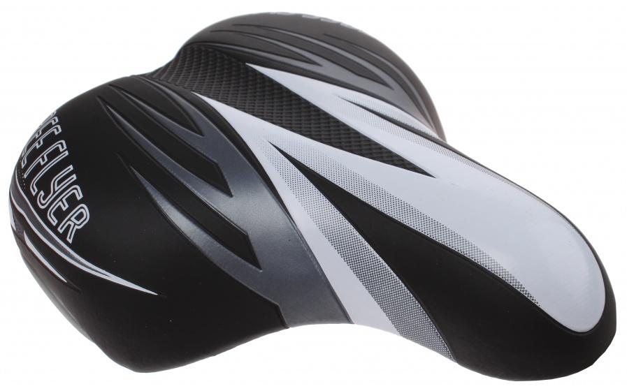 Cycle Tech zadel kinderfiets zwart/grijs/wit