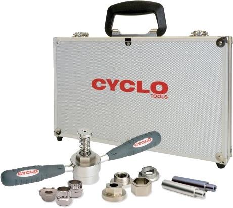 Cyclo Tools trapas demontage gereedschap zilver 11 delig