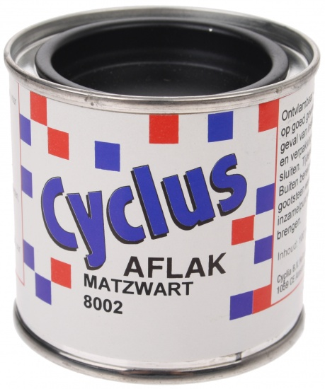 Cyclus Aflak Mat Zwart 8002 100ml