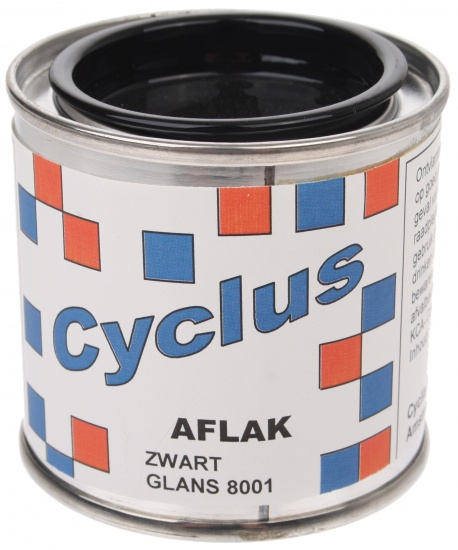 Cyclus Aflak Zwart Glans 8001 100ml