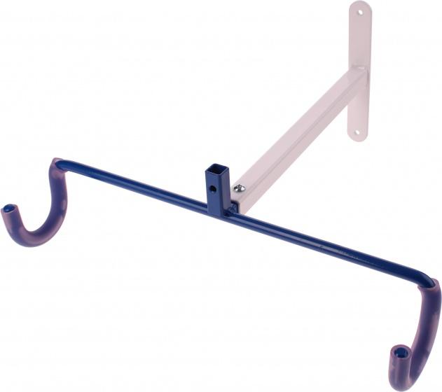 cyclus fahrradhalterung f r stahl wei blaue wand internet bikes. Black Bedroom Furniture Sets. Home Design Ideas
