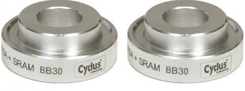 Cyclus Trapas set inpersringen Sram rechts zilver 2 stuks