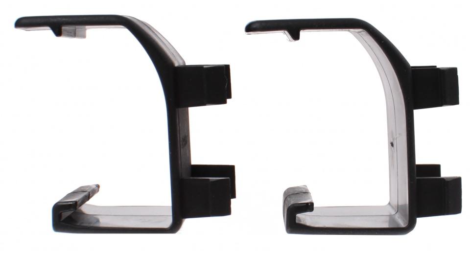 Cykell adapter oprijgoot zwart 2 stuks