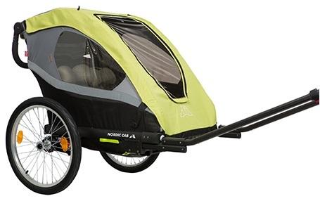 Nordic Cab Active 2 in 1 fietstrailer 20 Inch Junior Geel