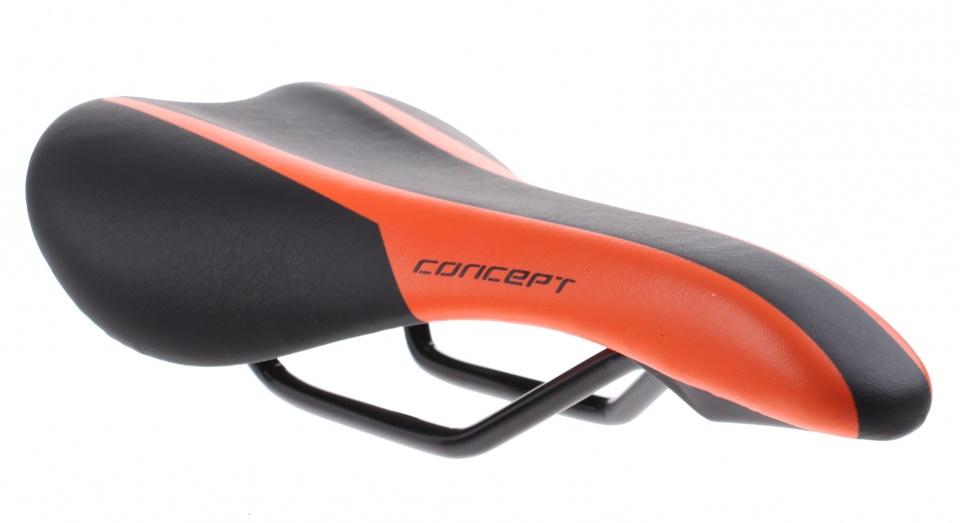 DDK zadel 540A Concept unisex zwart/oranje 26,5 cm