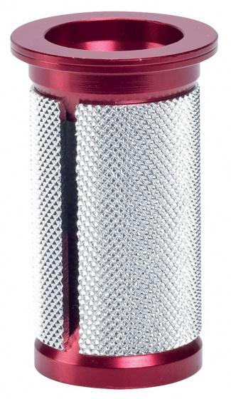 Korting Deda Balhoofdplug 70 X 23,5 Mm Staal 1 1 8 Inch Rood zilver