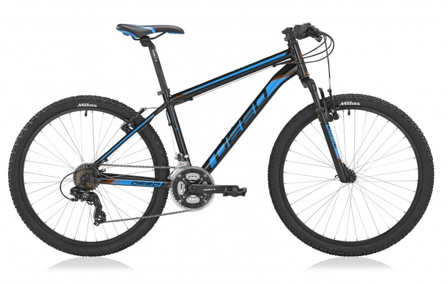 Deed Hoop 26 Inch 45 cm Heren 21V V Brake Zwart/Blauw