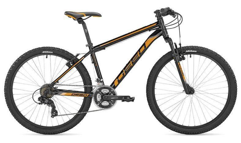 Deed Hoop 26 Inch 45 cm Heren 21V V Brakes Zwart/Oranje