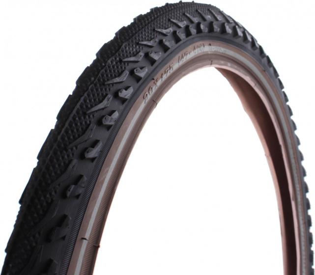 DeliTire buitenband 22 x 1.75 (47 457) rubber zwart/bruin
