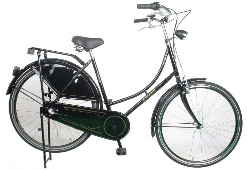 Desire Arezzo 28 Inch 53 cm Dames 3V Rollerbrake Zwart