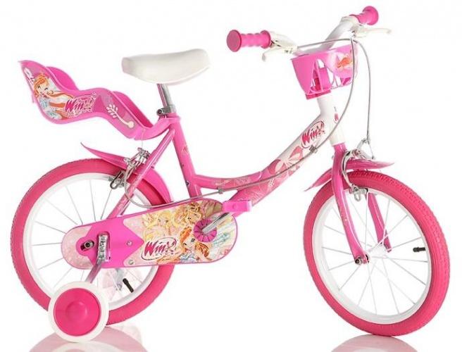 Dino - 144r-09w Winx 14 Inch Meisjes V-brake Roze