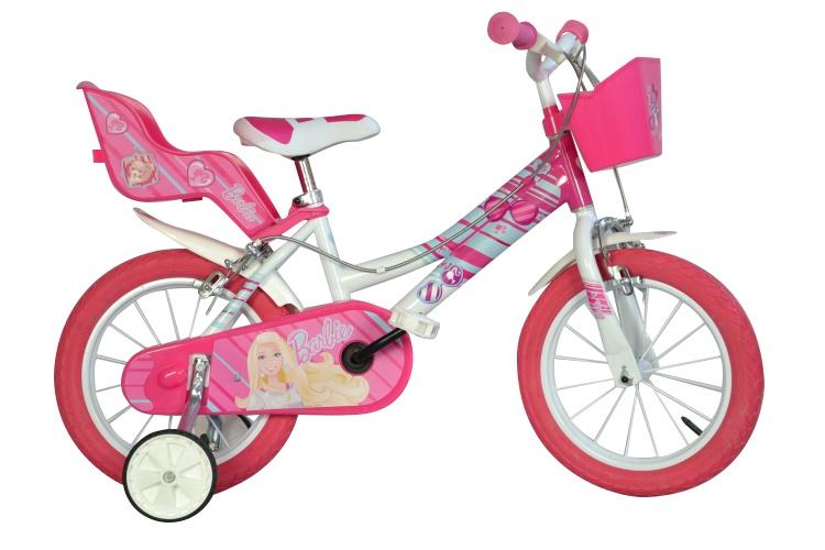 Dino - Barbie 16 Inch 27 Cm Meisjes V-brake Wit/roze