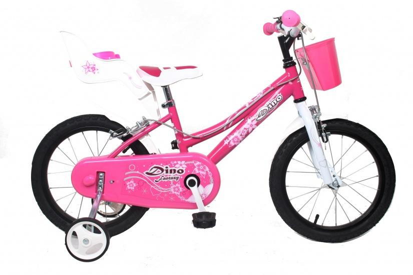 Dino - 166rsn 16 Inch 27 Cm Meisjes V-brake Roze