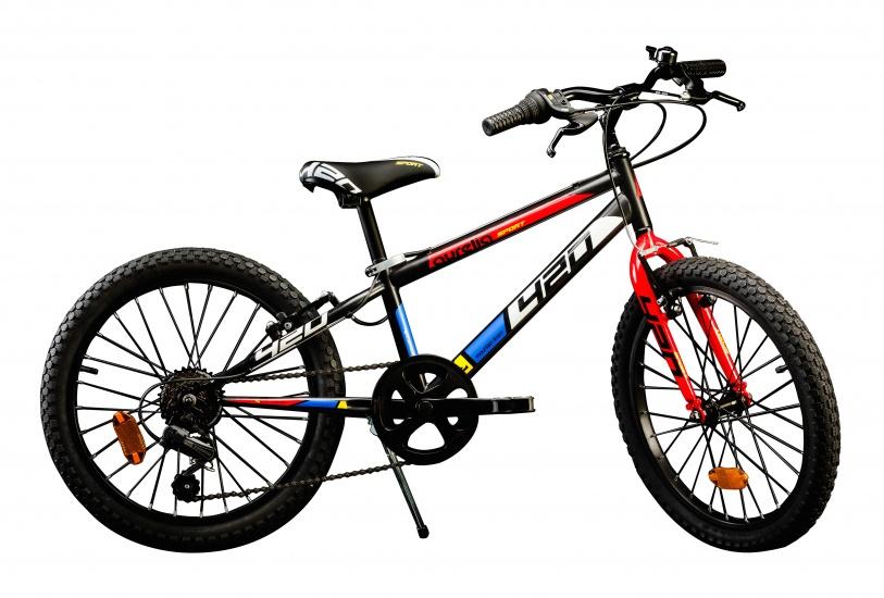 Aurelia 420U 0406 20 Inch 27 cm Jongens 6V V Brake Zwart