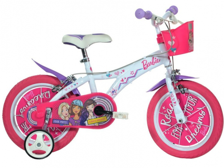 Dino Barbie 16 Inch 27 cm Meisjes Knijprem Roze/Wit