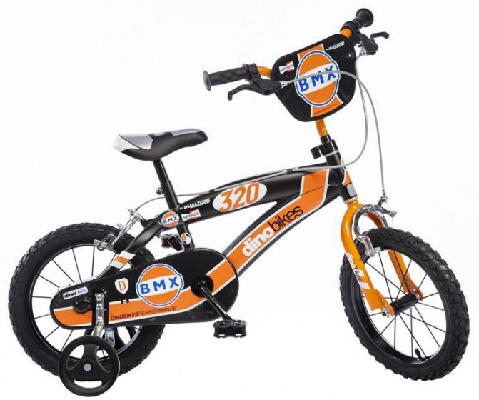 Dino - Bmx 14 Inch Jongens V-brake Zwart/oranje