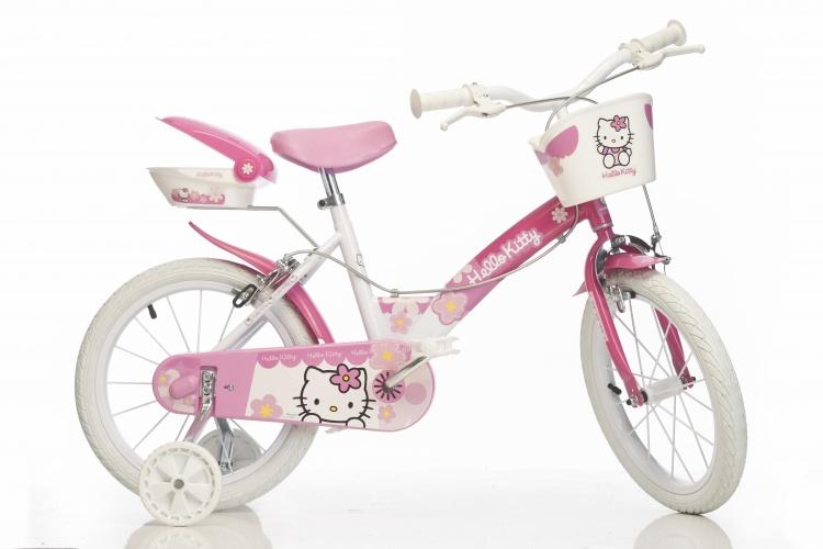 Dino 154N HK Hello Kitty 14 Inch Meisjes V Brake Wit/Roze